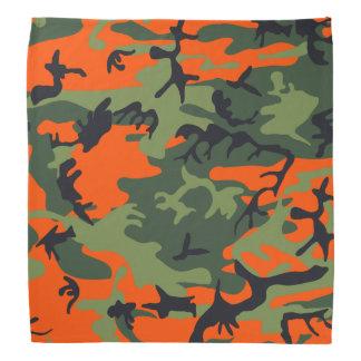 Orange, Light Green, Dark Green, Black Camouflage Bandana