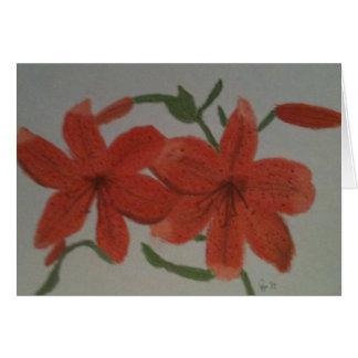 Orange Lilies Card