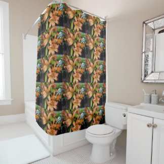 Orange Lilies Shower Curtain