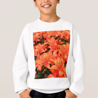 Orange liliums in bloom sweatshirt