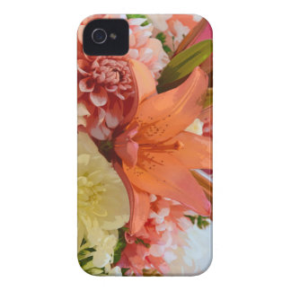 Orange lily and dahlia flowers iPhone 4 Case-Mate cases