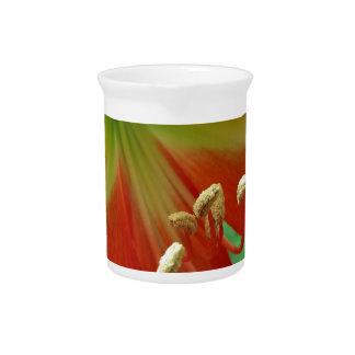 orange lily beverage pitcher