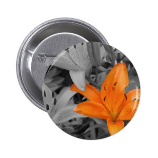 Orange Lily Hand-Colored Buttons
