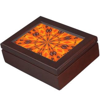 Orange Lily Medallion Memory Boxes