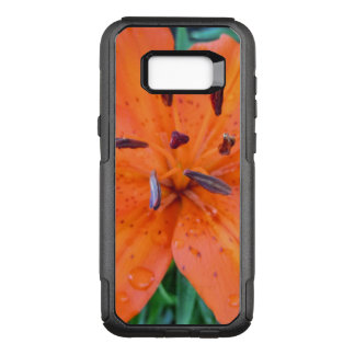 Orange Lily with water drops OtterBox Commuter Samsung Galaxy S8+ Case