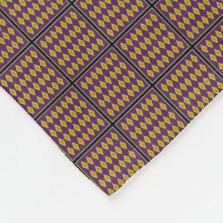 Orange Lime Harlequin Pattern Fleece Blanket