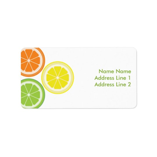 Orange Lime Lemon Label