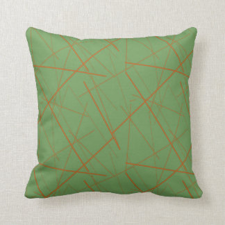 Orange Lines American MoJo Pillow