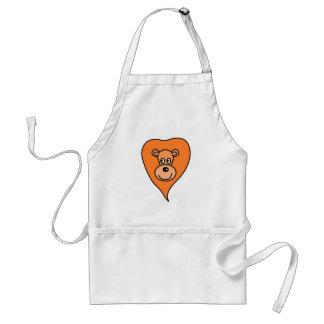 Orange Lion Cartoon Standard Apron