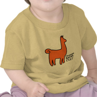 Orange Llama Cult Apparel T-shirts