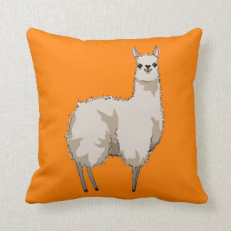 Orange Llama Cushion
