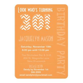 Orange Look Who's Turning 30 Birthday Invitation