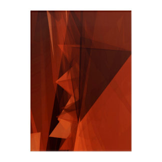 Orange Low Poly Background Design Artistic Pattern Acrylic Print