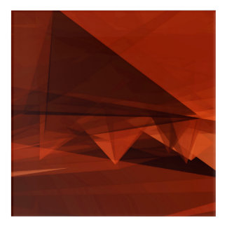 Orange Low Poly Background Design Artistic Pattern Acrylic Wall Art