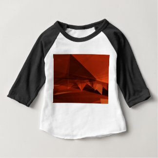 Orange Low Poly Background Design Artistic Pattern Baby T-Shirt