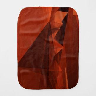 Orange Low Poly Background Design Artistic Pattern Burp Cloth