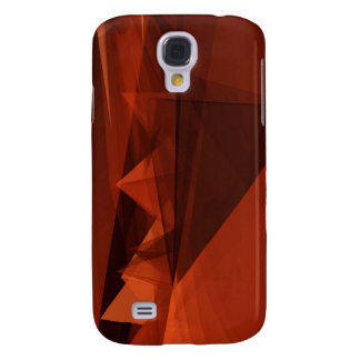Orange Low Poly Background Design Artistic Pattern Galaxy S4 Cover