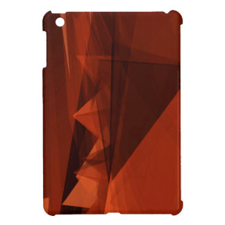 Orange Low Poly Background Design Artistic Pattern iPad Mini Cases