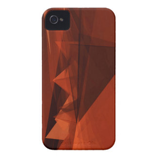 Orange Low Poly Background Design Artistic Pattern iPhone 4 Covers