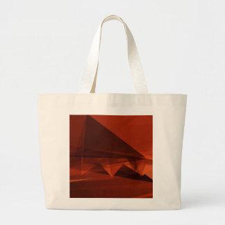 Orange Low Poly Background Design Artistic Pattern Large Tote Bag