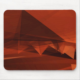 Orange Low Poly Background Design Artistic Pattern Mouse Pad