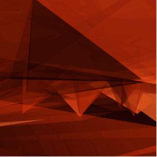 Orange Low Poly Background Design Artistic Pattern Photo Sculpture Badge