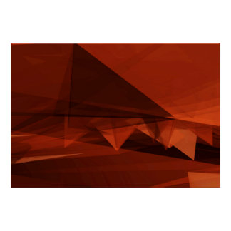 Orange Low Poly Background Design Artistic Pattern Poster