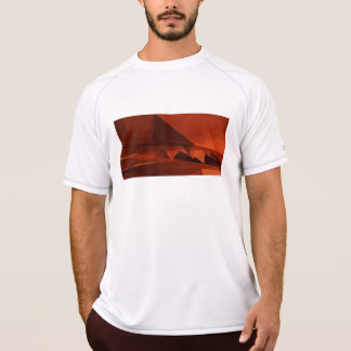 Orange Low Poly Background Design Artistic Pattern T-Shirt