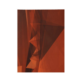 Orange Low Poly Background Design Artistic Pattern Wood Poster