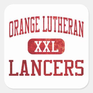 Orange Lutheran Lancers Athletics Square Sticker