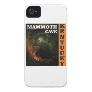 Orange mammoth cave art iPhone 4 case