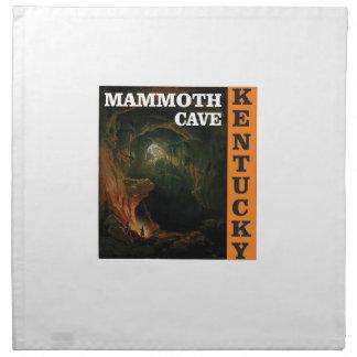 Orange mammoth cave art napkin