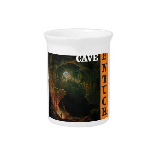 Orange mammoth cave art pitcher