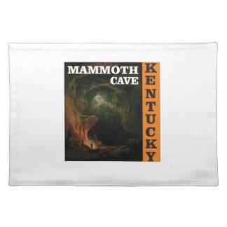 Orange mammoth cave art placemat