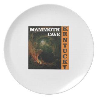 Orange mammoth cave art plate