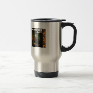 Orange mammoth cave art travel mug