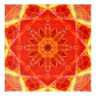 Orange Mandala Acrylic Wall Art