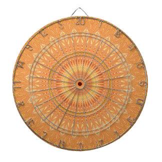 Orange mandala dartboard