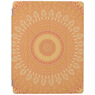 Orange mandala iPad cover