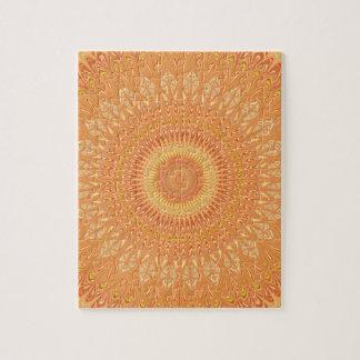 Orange mandala jigsaw puzzle