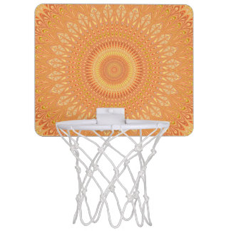 Orange mandala mini basketball hoop