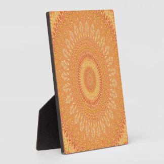 Orange mandala plaque