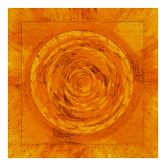Orange Mandala Poster
