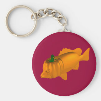 Orange Mangrove Jack Basic Round Button Key Ring