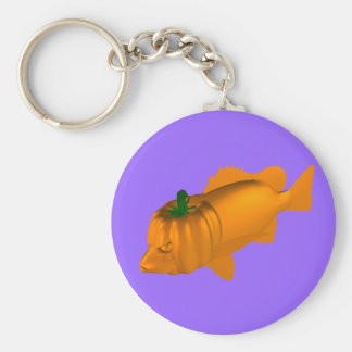 Orange Mangrove Jack Basic Round Button Key Ring