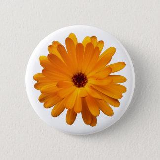 Orange Marigold 6 Cm Round Badge
