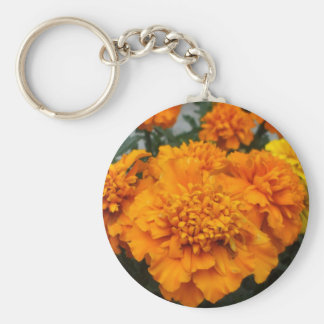 Orange  Marigold Key Ring