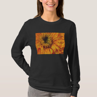 Orange Marigold on Black T-Shirt