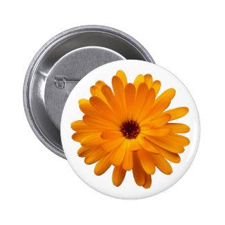 Orange Marigold Pinback Button