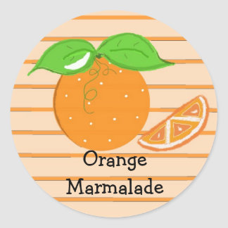 Orange Marmalade Classic Round Sticker